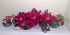 "24"" BURGUNDY Silk Crinkle Magnolia Swag Artificial Flower Home Wedding Decor"