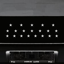 20 Aufkleber Tattoo Sterne 2,5cm weiß Klebesterne Auto Fenster Tür Deko Folie
