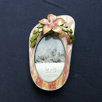 Enamel Flip Flop Photo Picture Frame 2.75 x 4.5 for 2 x 3 Oval