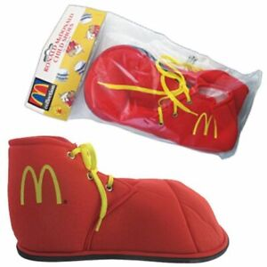 Ronald Mcdonald Child Shoes Red Clown One Size Fits Most Costume Party Accessory