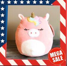 "Kellytoy Squishmallow 8"" Ilene Pink Sleeping Unicorn NEW HTF Plush Toy Animal"