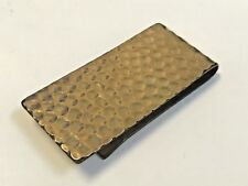 Gold Filled Hammered Money Clip Vintage Signed Destino 12k Yellow