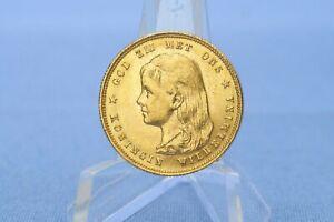 Niederlande 10 Gulden 1897 Wilhelmina  *6,72 Gramm 900 Gold* Ss