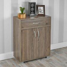 Small 2 Door 1 Drawer Hallway Living Room Sideboard Wooden Storage Cabinet Unit