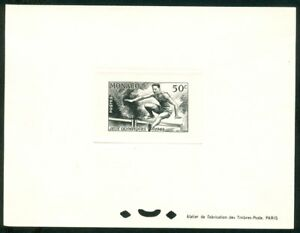 MONACO Olympic Games London 1948 Black proof Hurdles