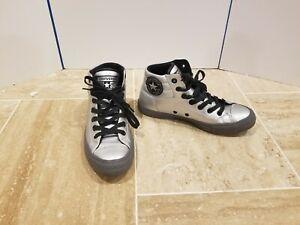 Converse Chuck Taylor All Star Fresh Silver Black High Shoes 152661C US 7 Men, 9