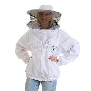 Beekeeping White Round Veil Jacket -XL
