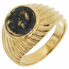 BVLGARI Ring Monete Antique Coin K18 Yellow Gold Size #51 US #6.0 Ex++