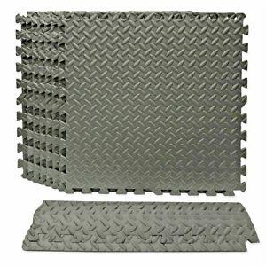 Best Step 8 PACK Microban Interlocking Foam Comfort Gym Garage Indoor Floor Tile