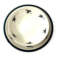 Angler's Expressions, Serving bowl & plate ducks Kitchen Basics II 1999