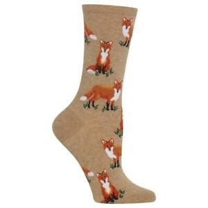 Fox Pals Hot Sox Women's Crew Socks Hemp New Colorful Novelty Forest Fashion