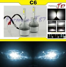 LED Kit C6 72W H1 6000K White Two Bulbs Fog Light Replacement Upgrade Lamp OE