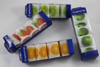 Set 4 Serviettenringe Modelle Früchte, Inkl. Verschlüsse - 4 Napking Rings