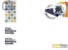 2019 FDC, The 150th Anniversary of Birth of Mohandas Gandhi, Montenegro