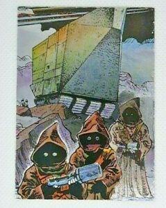 1995 Topps Star Wars Galaxy Series 3 Etched Foil Jawa s #16 1u6