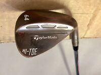 TaylorMade Hi-Toe Carbon Steel Wedge 64* KBS 115g Stiff Flex Steel Golf Club
