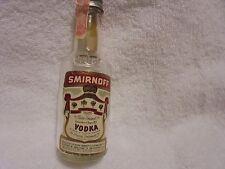 "Smirnoff Vodka ""Empty"" Minature Single Glass Liquor Bottle.B 101"