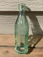 VTG COCA-COLA 6oz Soda Pop Bottle Hobble Skirt Green Glass WICHITA KS 1947 F/S