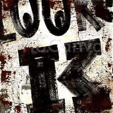 "36""x36"" K by RODNEY WHITE by LETTER ALPHABET GICLEE CANVAS"
