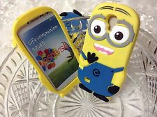 3D Minion lovely cartoon soft rubber phone case cover SAMSUNG GALAXY S4 i9500