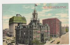USA, City Hall, Pontchartrain Hotel Detroit Postcard, B226