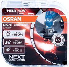 Hb3 Osram Lámparas Night Breaker Laser Halógeno Bombillas 9005 White Duo 12V 60W