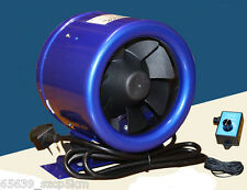 "8"" Inline Duct Fan w/ Speed Controller 8 Inch 115-230V Exhaust Blower"