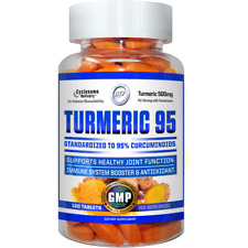 Hi Tech Pharmaceuticals Turmeric 95 500mg 95% Pure 120 Tablets Free Shipping USA