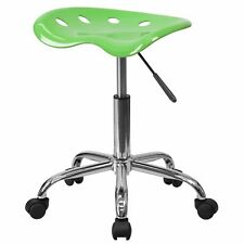 Delacora Ff Lf 214a Green 17w Metal Swivel Seat Stool With Tractor Seat