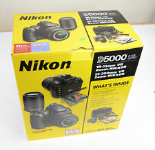 Nikon D5000 12.3MP Digital SLR Camera - with 2 Lenses 18-55mm & 55-200mm - Kit