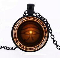 Collier pendentif symbole égypte oeil d'horus oudjat, protection.