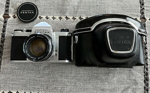 Honeywell Pentax H3 Film Camera With Auto Takumar 55mm 1.8 Lens And Case