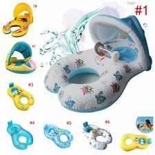 Inflatable Mother & Baby Swim Ring Float Raft Kids Seat Swimming Pool Summer UK