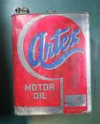 Vintage+Artex+Motor+Oil+Can+%E2%80%93+Empty+RARE+2+Gallon%2C+Chained+Cap+