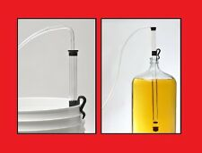 """AUTOSIPHON KIT JUMBO 1/2"""" RACKING CANE w/HOSE & CLAMP AUTO SIPHON FOR BEER WINE"""