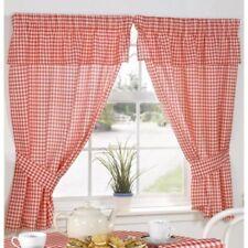 Rideaux et cantonnières rouges en polyester pour la maison, 100 cm - 150 cm
