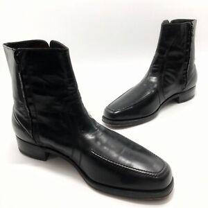 ✅💟✅@ Men's Florsheim Ankle Boots Dress Shoes Black Leather Side Zip 13 D Chukka