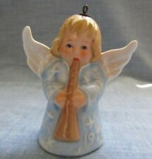Goebel Angel Bell Ornament Blue Dress 1976