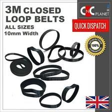 3M 3mm Pitch 10mm Width Closed Loop Synchronous HTD Timing Belt GT3 3M Pulley UK