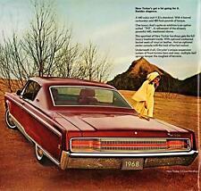 Old Print.  Cherry 1968 Chrysler New Yorker Two Door Hardtop Auto Ad