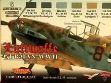 c LIFECOLOR CS.06 - Set 6 Colori Acrilici - LUFTWAFFE German WWII - Set 1