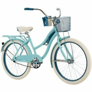 """New Huffy 24"""" Nel Lusso Girls' Cruiser Bike W Perfect Fit Frame, Blue 54590PY"""