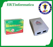 FILTRO ADSL RJ11 SPLITTER ADSL INTERNET USCITA MODEM E TELEFONO NUOVO