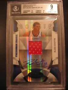2009-10 Certified Mirror Blue Blake Griffin RC Auto Patch #32/50 = 1/1 Jersey #