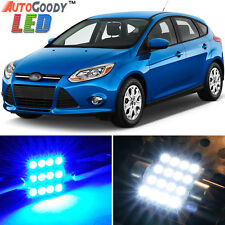 6 x Premium Blue LED Lights Interior Package for Ford Focus 2012-2014 + Tool