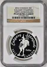 Canada 2012 S$1 Silver Calgary Stampede 100th Anniversary NGC Proof 69 UC PF69