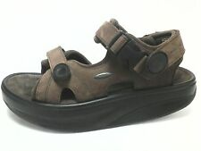 EUC $190 MBT UNISEX Walking SANDALS Brown KISUMO US Womens 9.5 Mens 7.5  EU 40.3