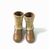 """Fit for 12"""" 1/6 Custom A pair of Shoes Middle Shoes Boots GI Joe Military M799"""