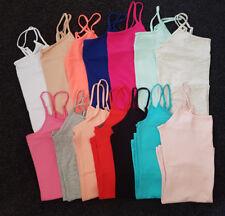 Cami Vest Top Plain Stretch Adjustable Straps Primark Size 4-20 White,Black,Grey