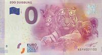 BILLET 0  EURO ZOO DE DUISBURG  2016 NUMERO 1100